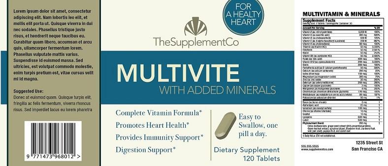 health-supplement-label-vitamin - SSMFG - #1 Vitamin