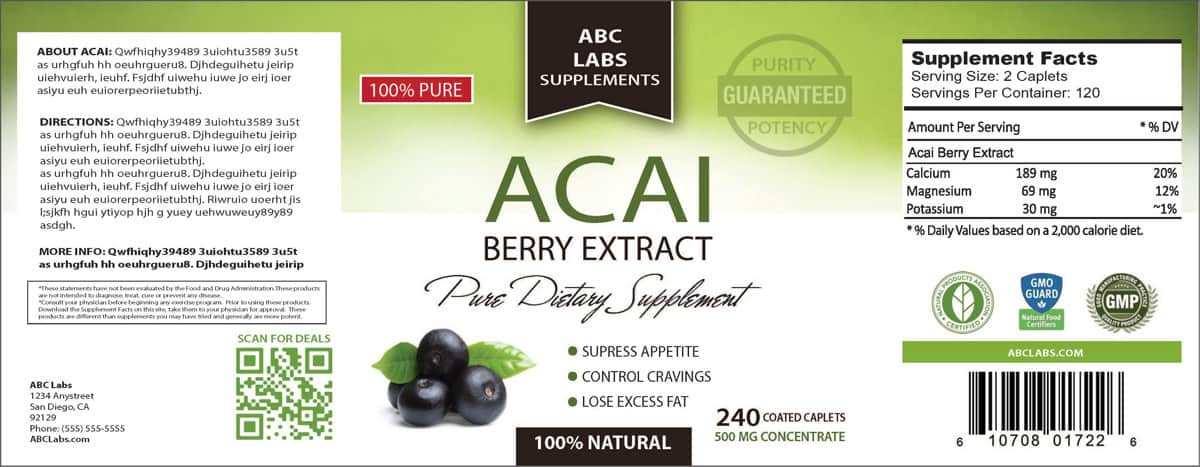 Superior---Acai-Berry-Extract-Label