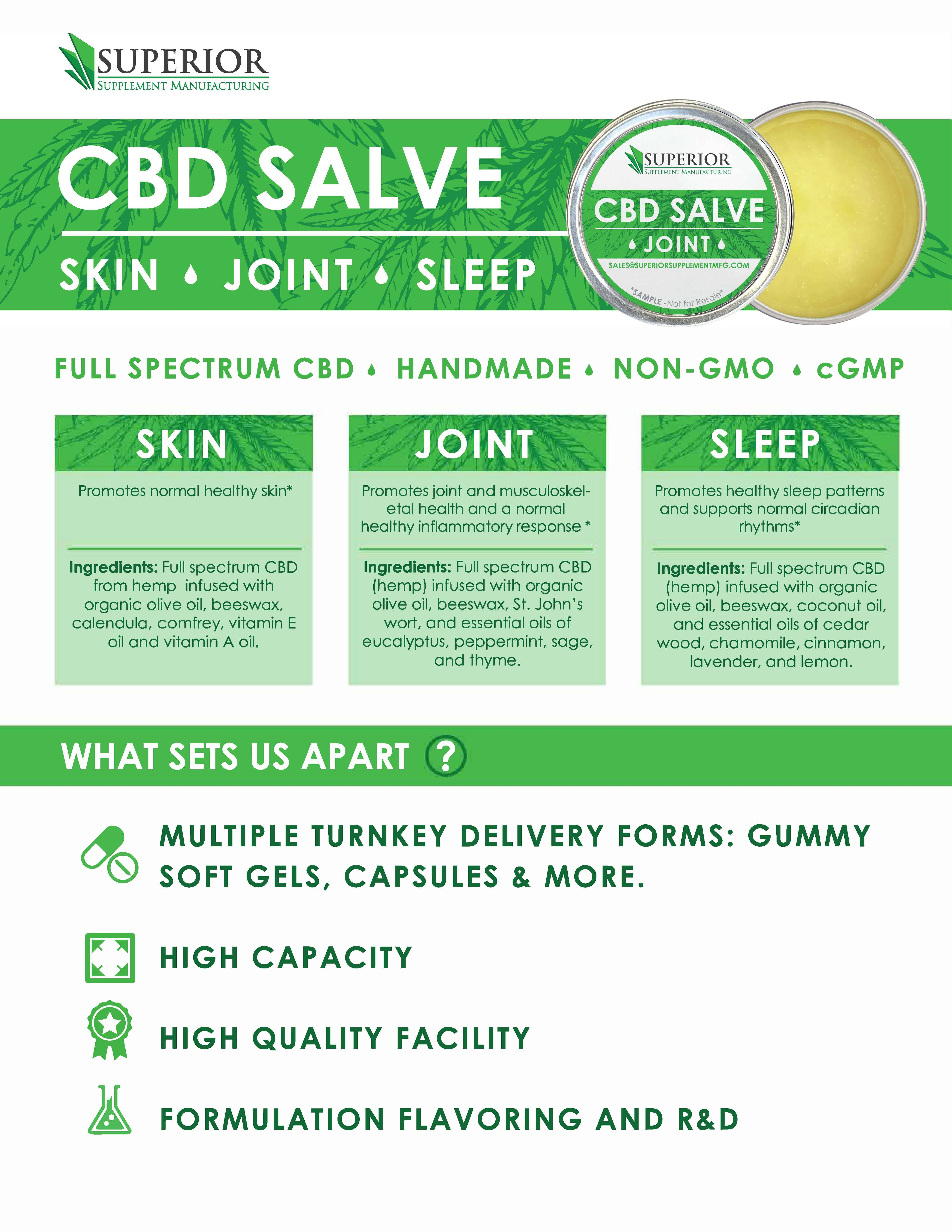 private label cbd salve balm