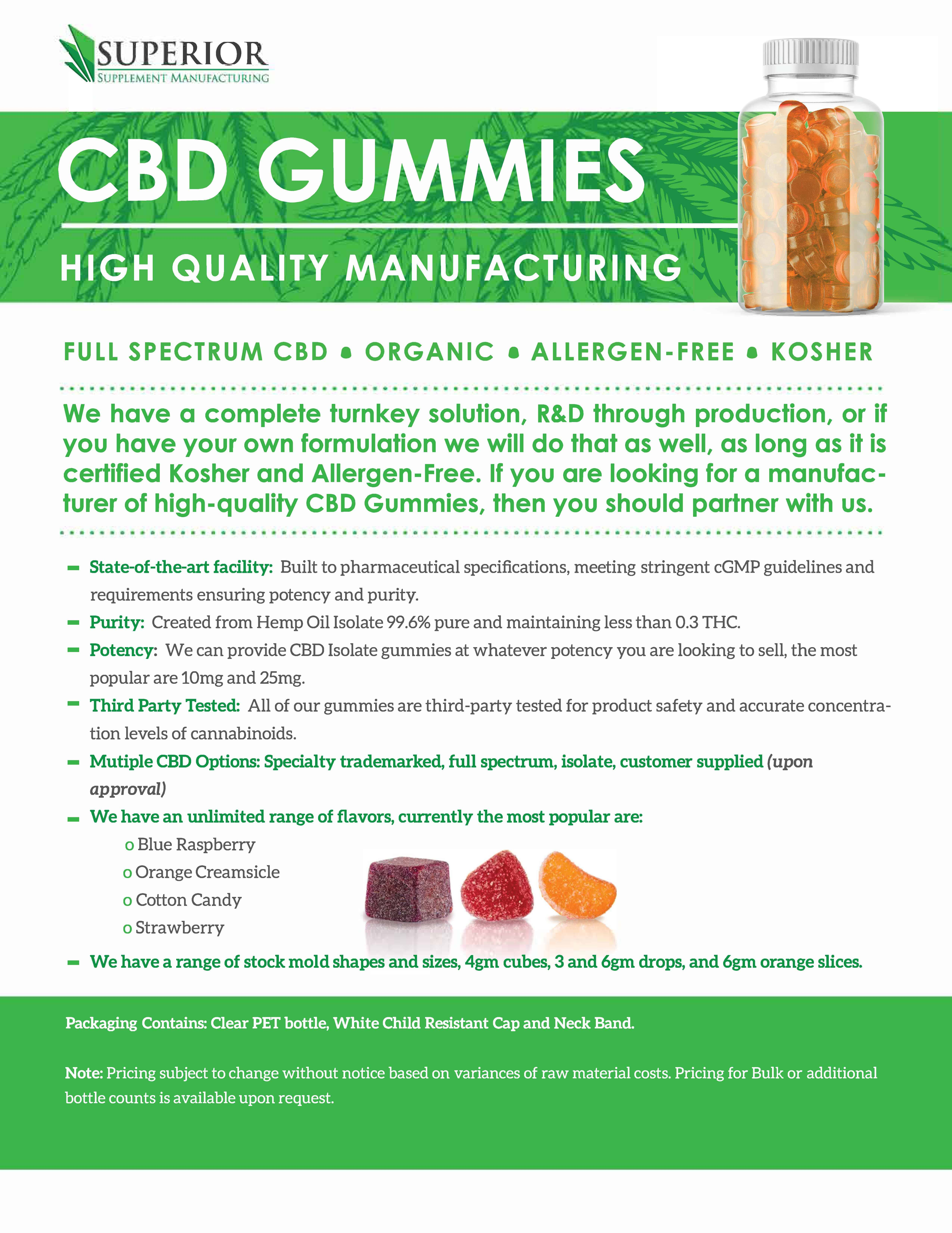 cbd gummy private label supplements