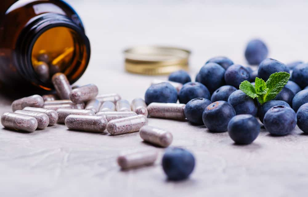 Antioxidant Supplements and Blueberries